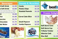 Brilliant Ideas For Concession Stand Menu Template In Description intended for Concession Stand Menu Template