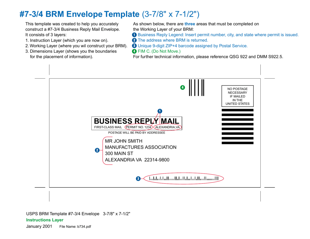 """Brm Envelope Template """" X Regarding Business Reply Mail Template"""
