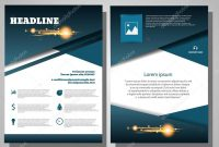 Brochure Blue Flyer Design Layout Template Infographic Vector E with E Brochure Design Templates