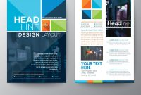 Brochure Flyer Design Layout Template In A Size Vector Image inside E Brochure Design Templates
