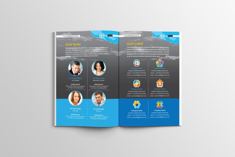 Brochure For Social Media Business Corporate Identity Template With Social Media Brochure Template