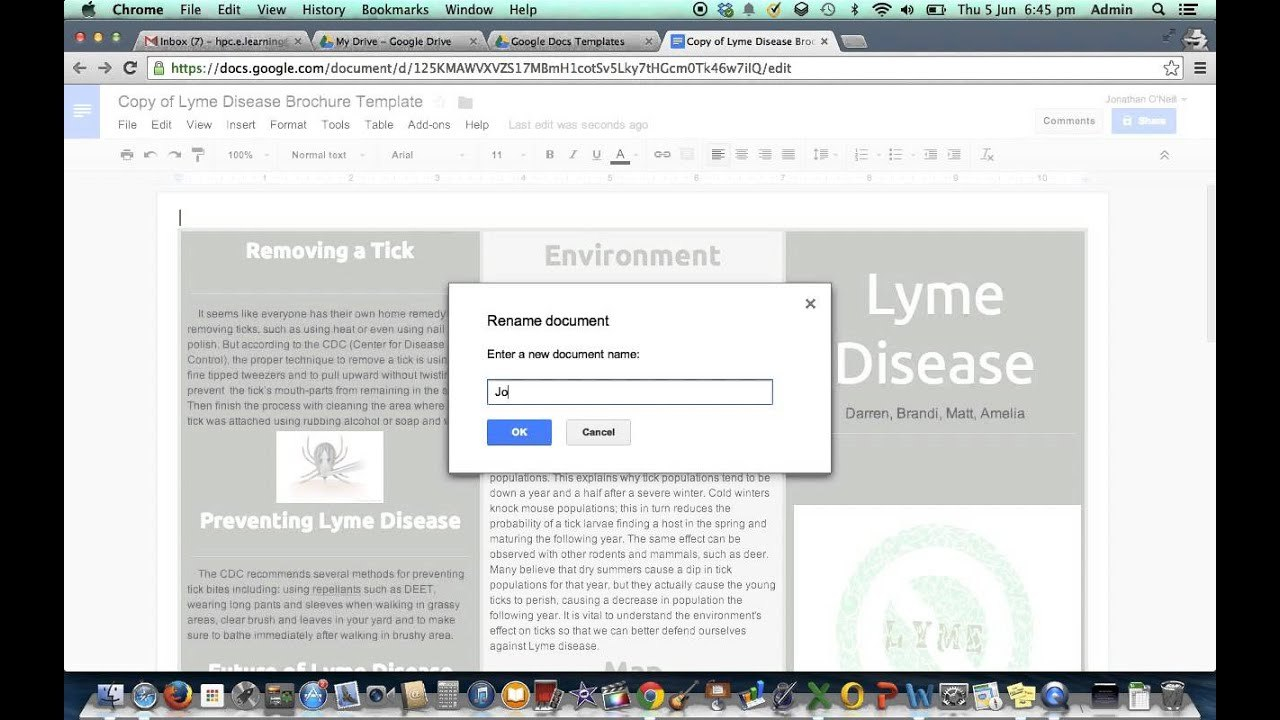Brochure Template In Google Drive  Youtube In Google Drive Brochure Templates