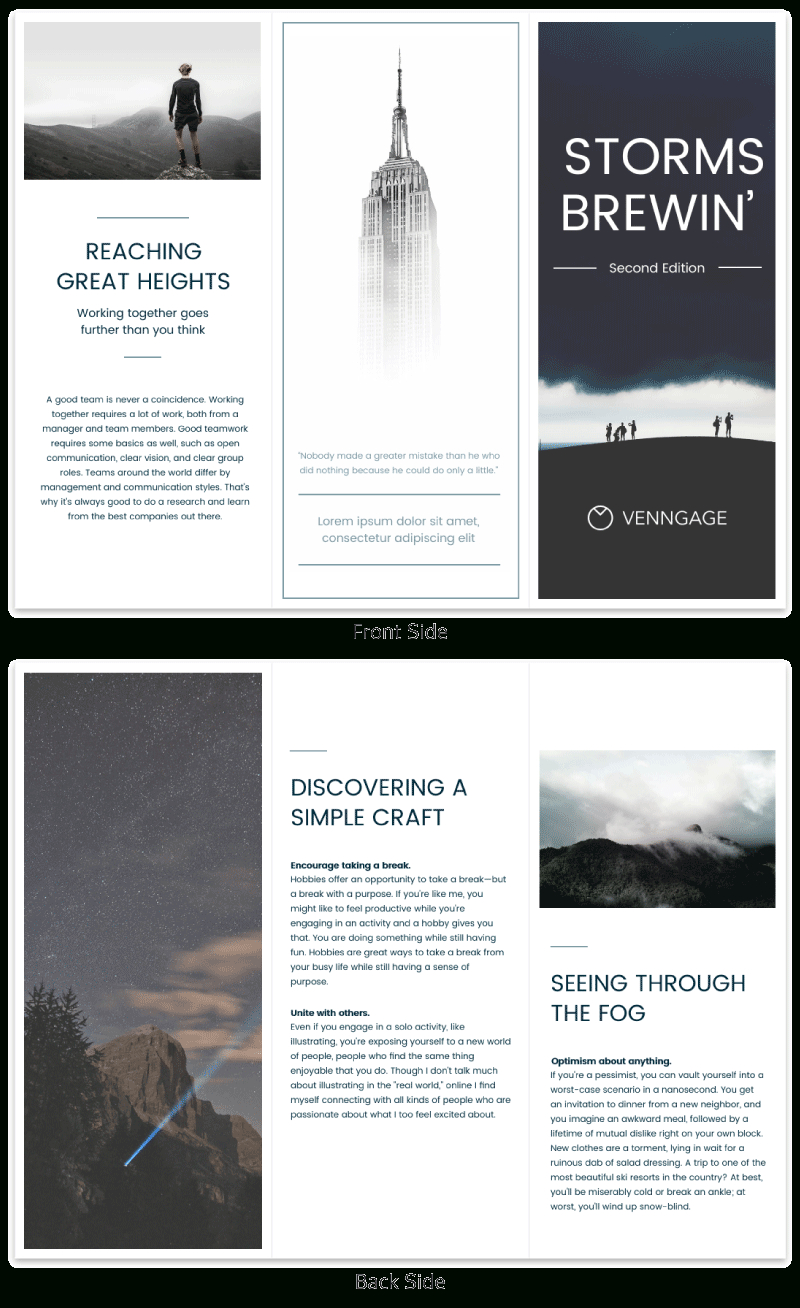 Brochure Templates And Design Tips To Inform Your Audience And Pertaining To Good Brochure Templates