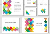 Brochures Flyers And Business Card Templates Set Mosaic Fancy throughout Fancy Brochure Templates