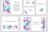 Brochures Flyers And Business Card Templates Set Mosaic Fancy with regard to Fancy Brochure Templates