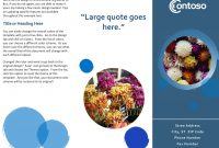 Brochures  Office with Brochure Template On Microsoft Word