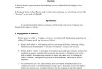 Broker Commission Sales Agreement  Advertising And Marketing with regard to Commercial Mortgage Broker Fee Agreement Template