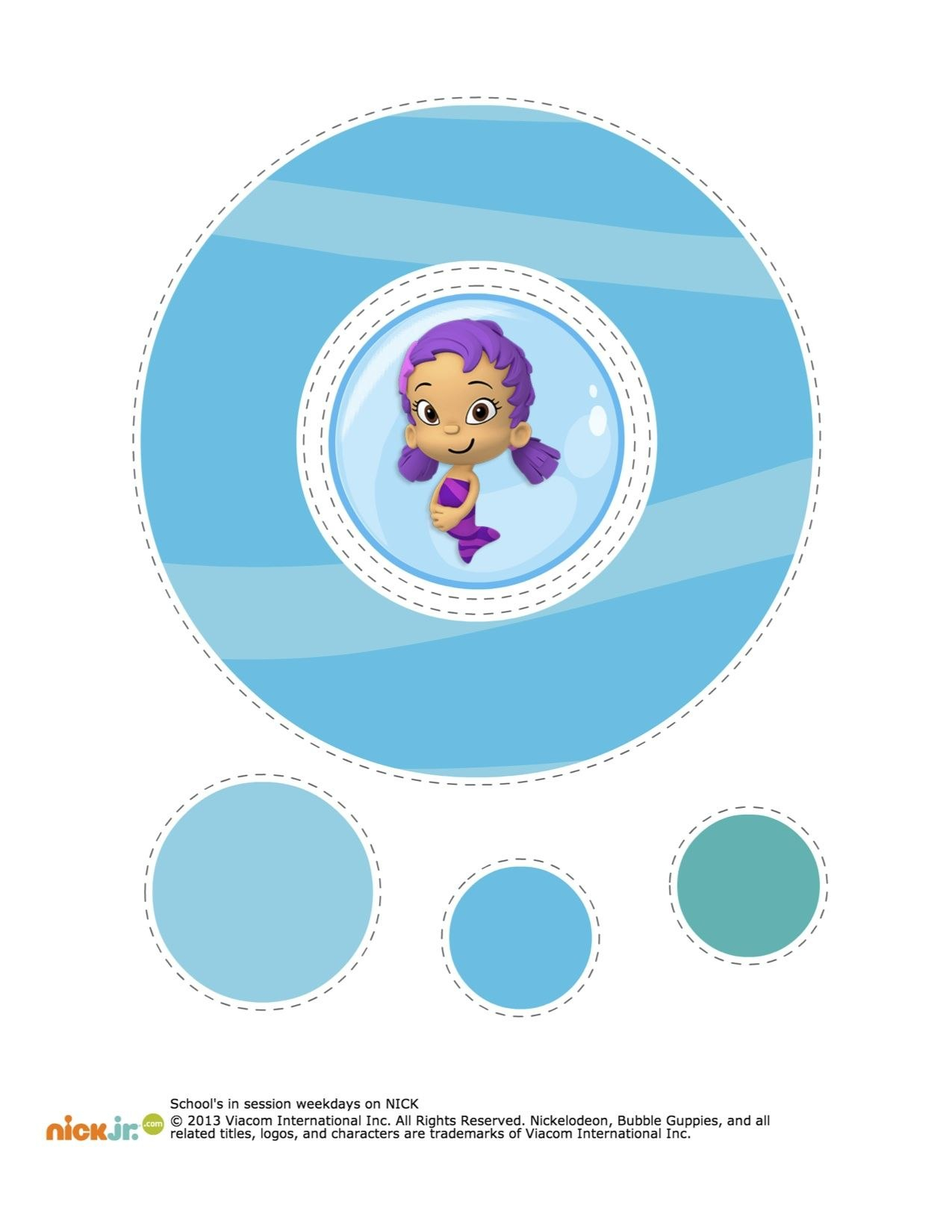 Bubble Guppies Hanging Decorations Printable  Bubble Guppie Intended For Bubble Guppies Birthday Banner Template