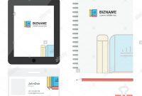 Buch Und Bleistift Business Logo Registerkarte App Tagebuch Pvc pertaining to Pvc Card Template