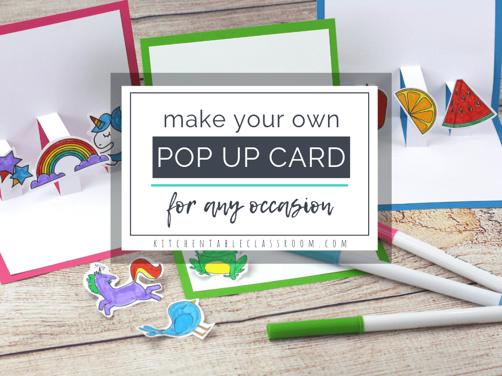 Build Your Own D Card With Free Pop Up Card Templates  The Kitchen Inside Pop Up Card Templates Free Printable
