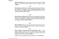 Bukit Energy Inc Share Purchase Agreement Dated May with regard to Share Purchase Agreement Template Singapore