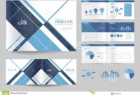 Business Brochure Design Template And Page Layout For Company pertaining to Business Profile Template Free Download