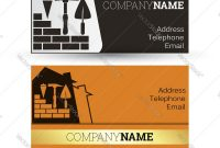 Business Card Construction Royalty Free Vector Image with regard to Construction Business Card Templates Download Free