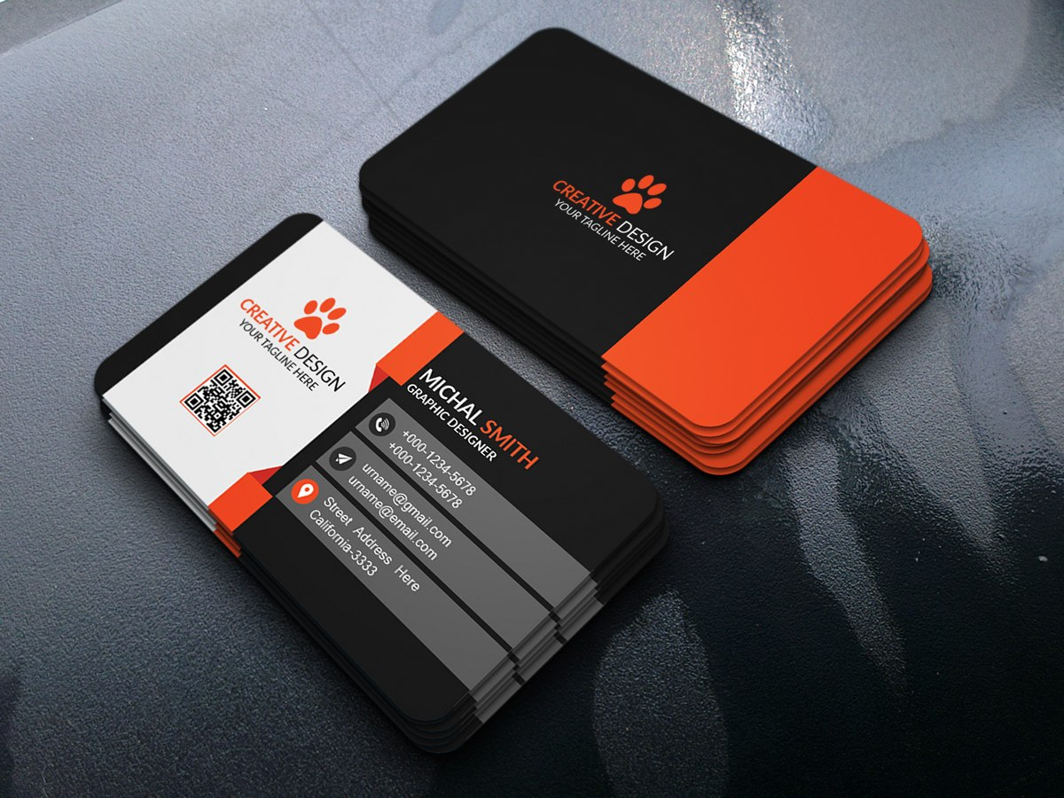 Business Card Design Free Psd On Behance Within Name Card Template Psd Free Download