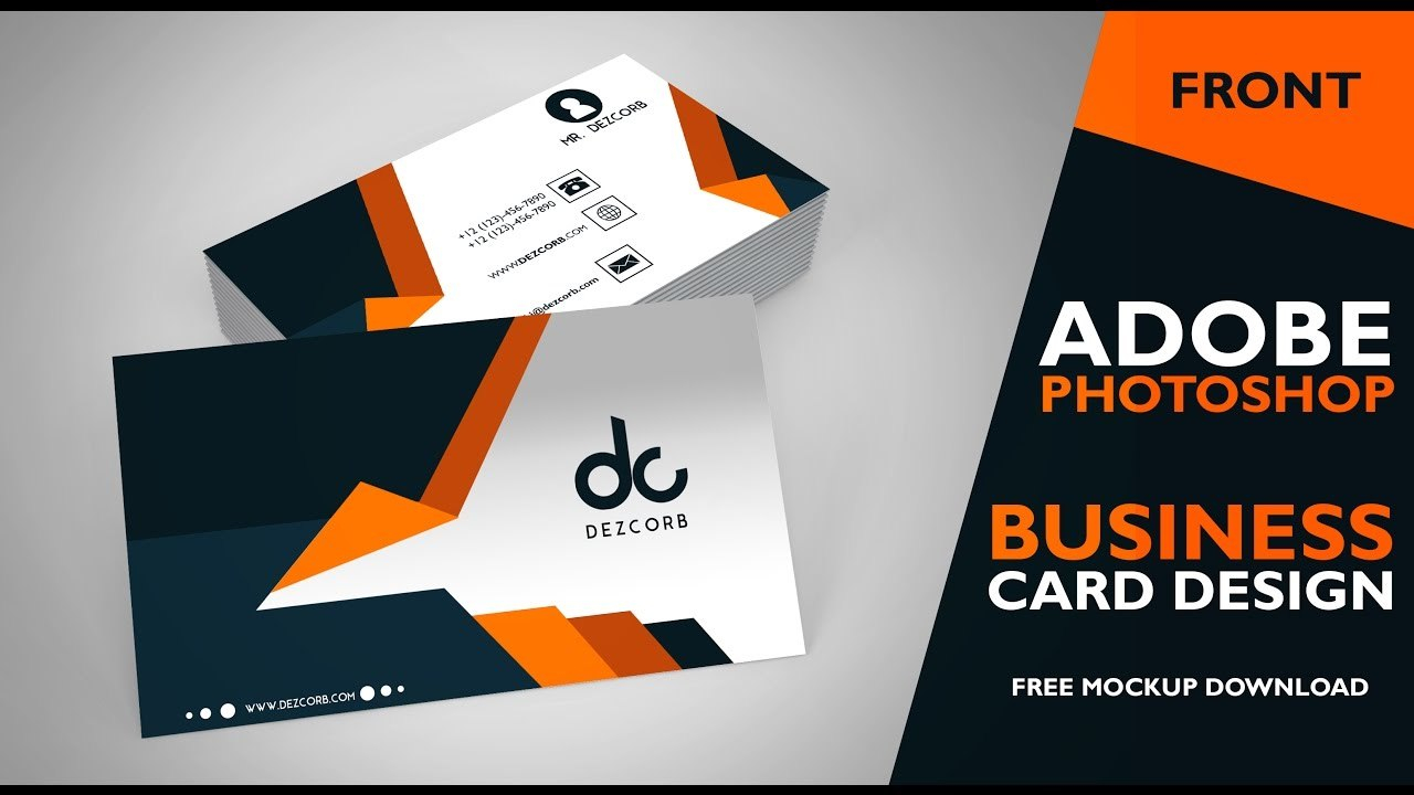 Business Card Design In Photoshop Cs  Front  Photoshop Tutorial For Business Card Template Photoshop Cs6