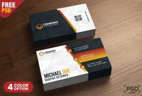 Business Card Design Templates Psd  Psd Zone With Calling Card Template Psd