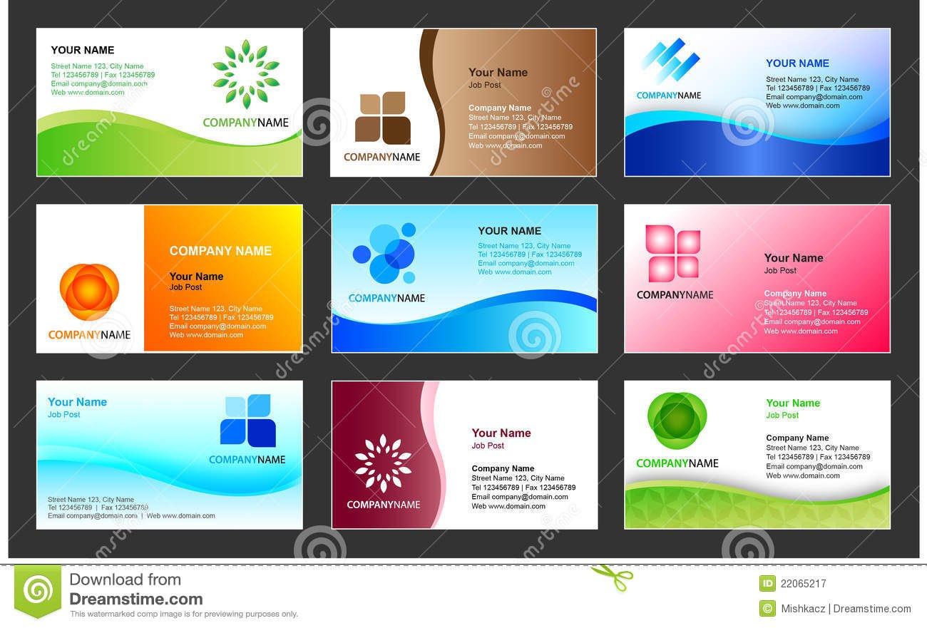 Business Card Template Design Stock Vector  Illustration Of Cards Intended For Templates For Visiting Cards Free Downloads