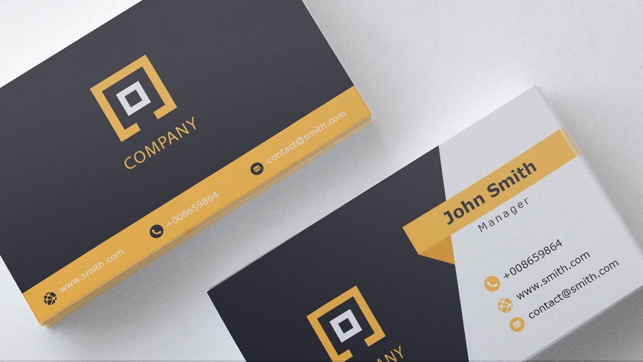 Business Card Template  Free Download     Youtube Within Download Visiting Card Templates