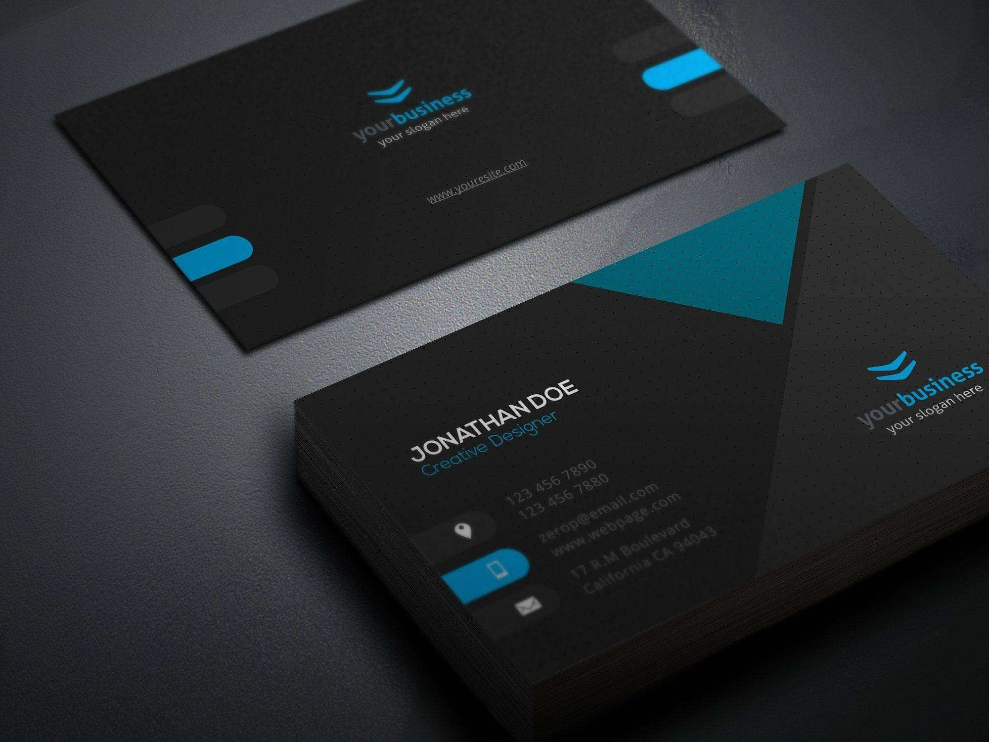Business Card Template Illustrator Free Download  Caquetapositivo Inside Visiting Card Illustrator Templates Download