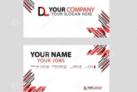 Business Card Template In Black And Red With A Flat And Horizontal throughout Dl Card Template