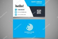 Business Card Template With Logo — Stock Vector © Ibrandify with regard to Qr Code Business Card Template