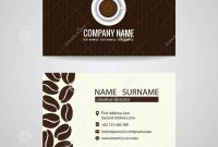 Business Card Vector Graphic Design  Coffee Cup And Coffee Beans for Coffee Business Card Template Free