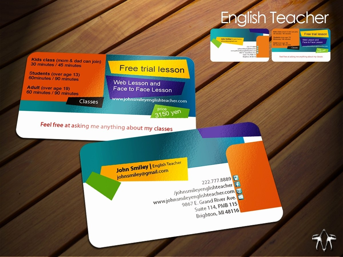 Business Cards For Teachers Templates Free Best Of Teacher Business Inside Business Cards For Teachers Templates Free