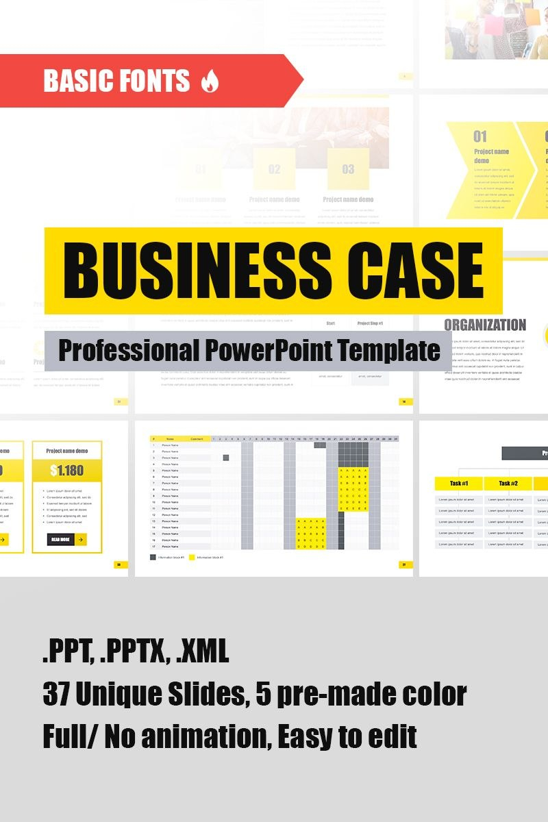 Business Case Powerpoint Template  Anime  Keynote Template Throughout Business Case Presentation Template Ppt