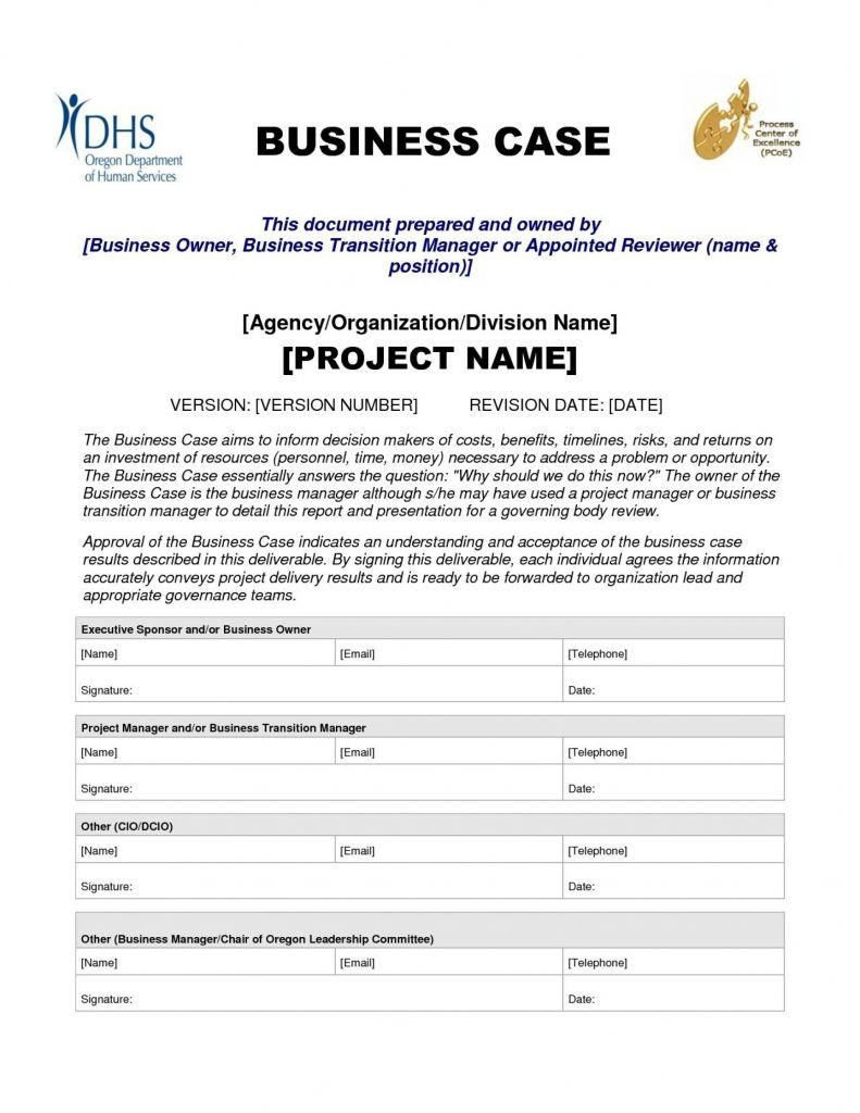 Business Case Template Prince New Business K Words Archives With Regard To Prince2 Business Case Template Word
