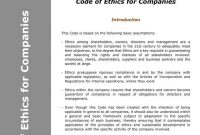 Business Code Of Ethics Policy Templates  Free  Premium Templates within Business Ethics Policy Template