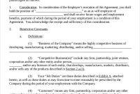Business Noncompete Agreement Templates  Free Sample Example intended for Business Templates Noncompete Agreement