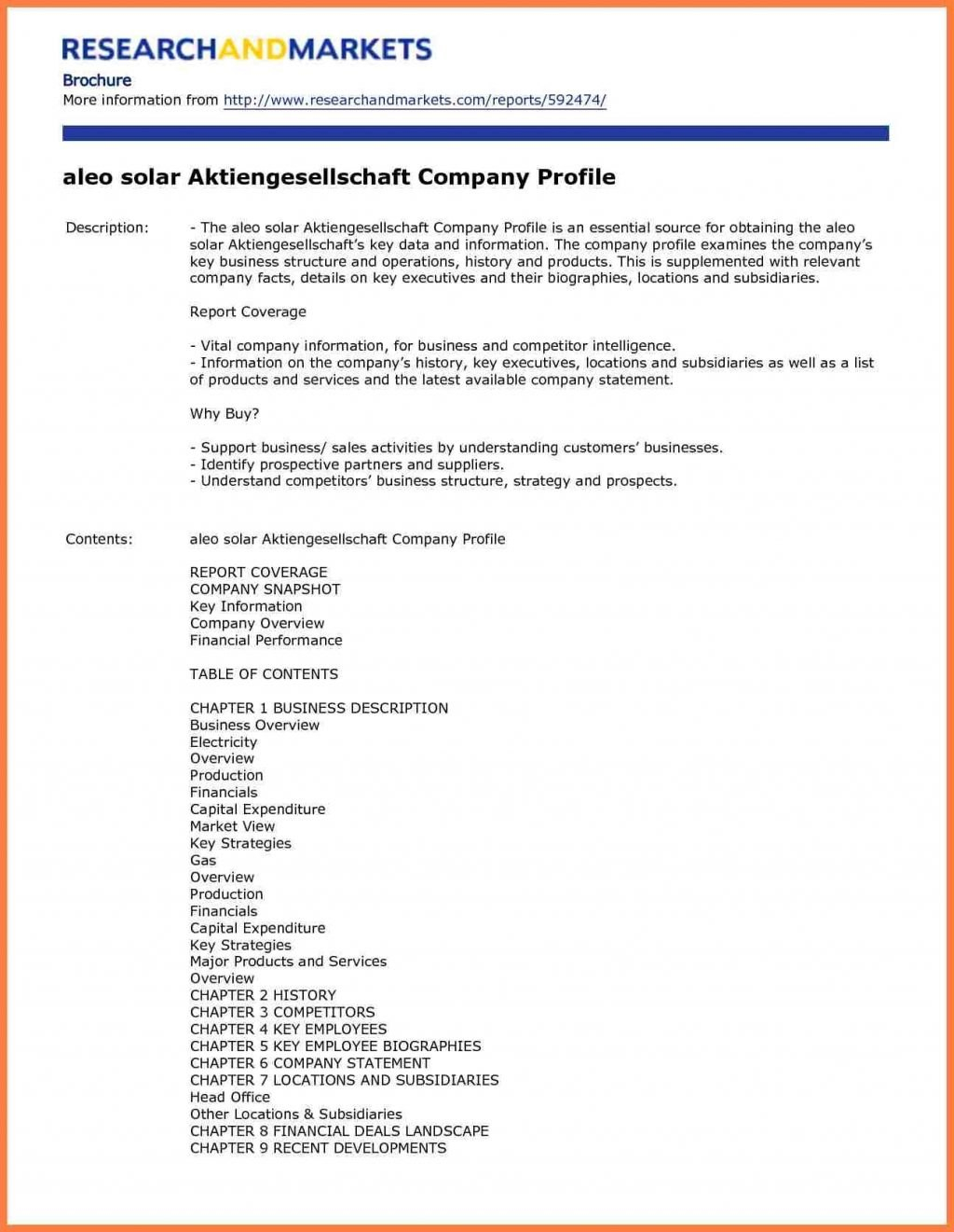 Business Overviewample Company Profile Template Formall Elegant Pany Regarding How To Write Business Profile Template