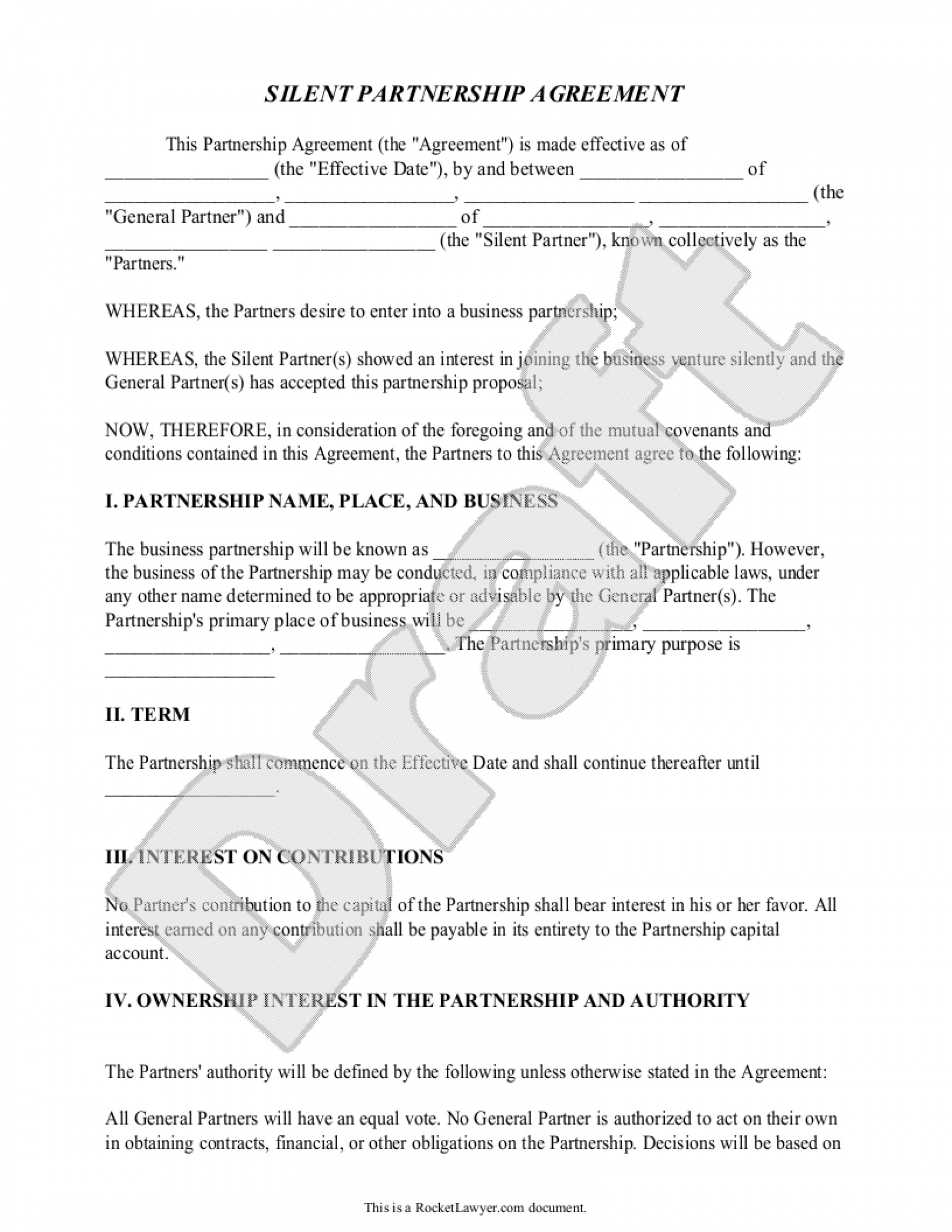 Business Partnership Agreement Template Free Rare Ideas Within Free Business Partnership Agreement Template Uk