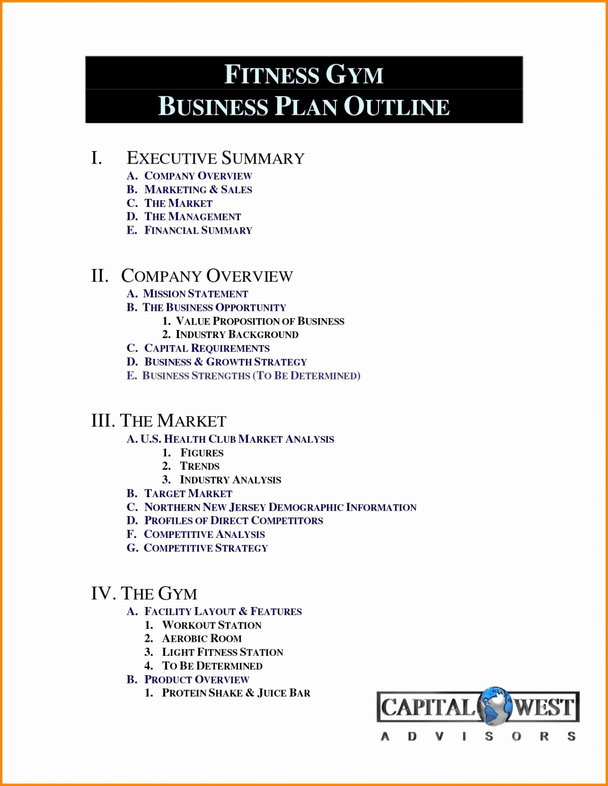 Business Plan For Gym Template Fitness Free Downloads New Throughout Business Plan Template For A Gym