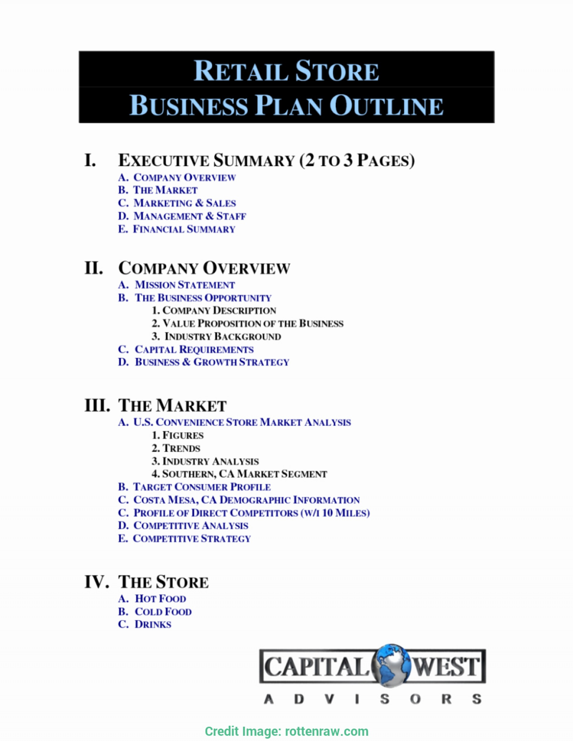 Business Plan Sample Convenience Store Grocery Template Station For Grocery Store Business Plan Template