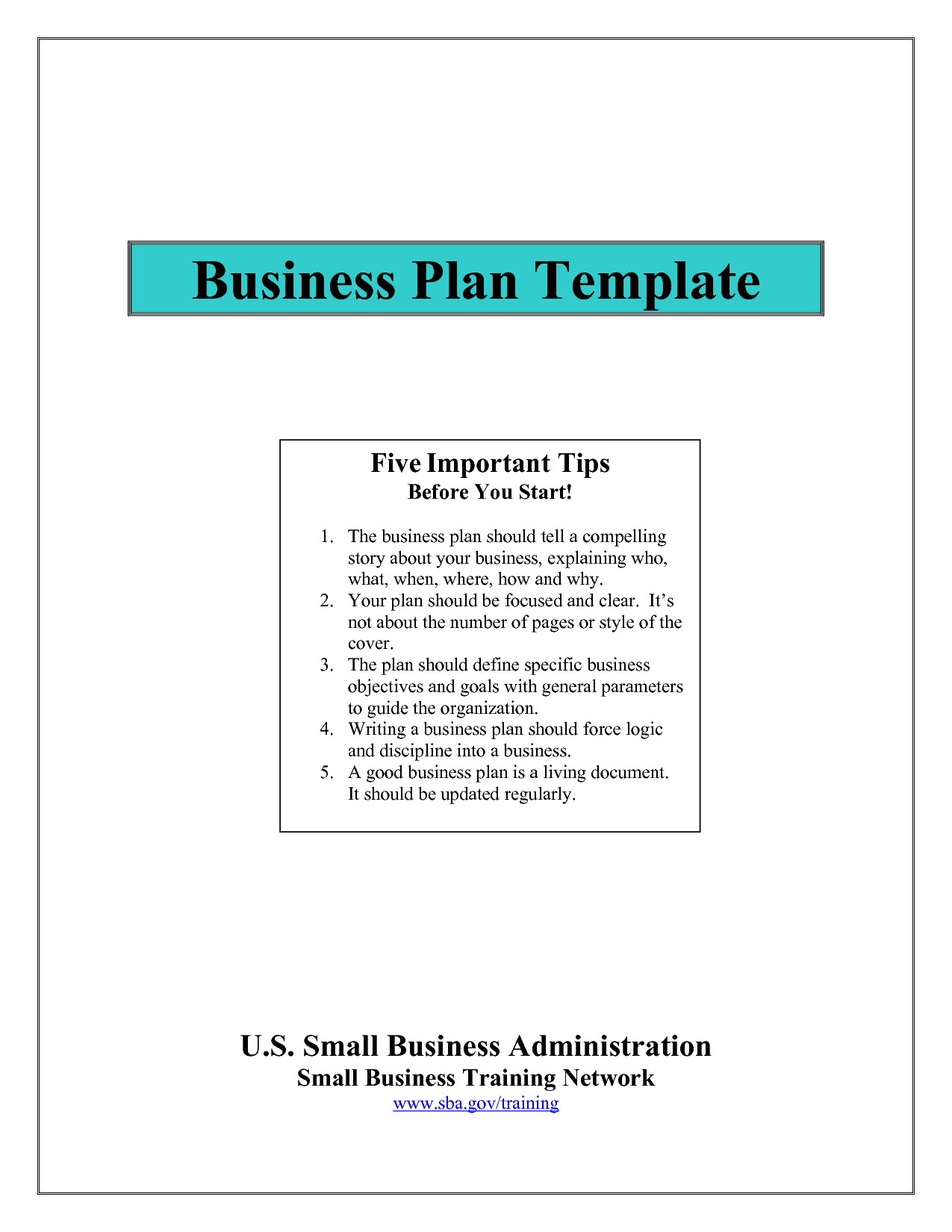 Business Plan Template Sba Top Templates A Score ~ Fanmailus Pertaining To Sba Business Plan Template Pdf
