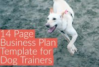 Business Plan Template  The Modern Dog Trainer regarding Dog Breeding Business Plan Template