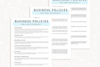 Business Policies Template For Photographers  Strawberry Kit inside Photography Cancellation Policy Template
