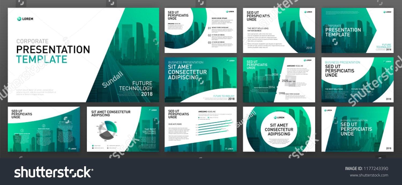 Business Presentation Templates Set Use Keynote Stockvektorgrafik Intended For Keynote Brochure Template