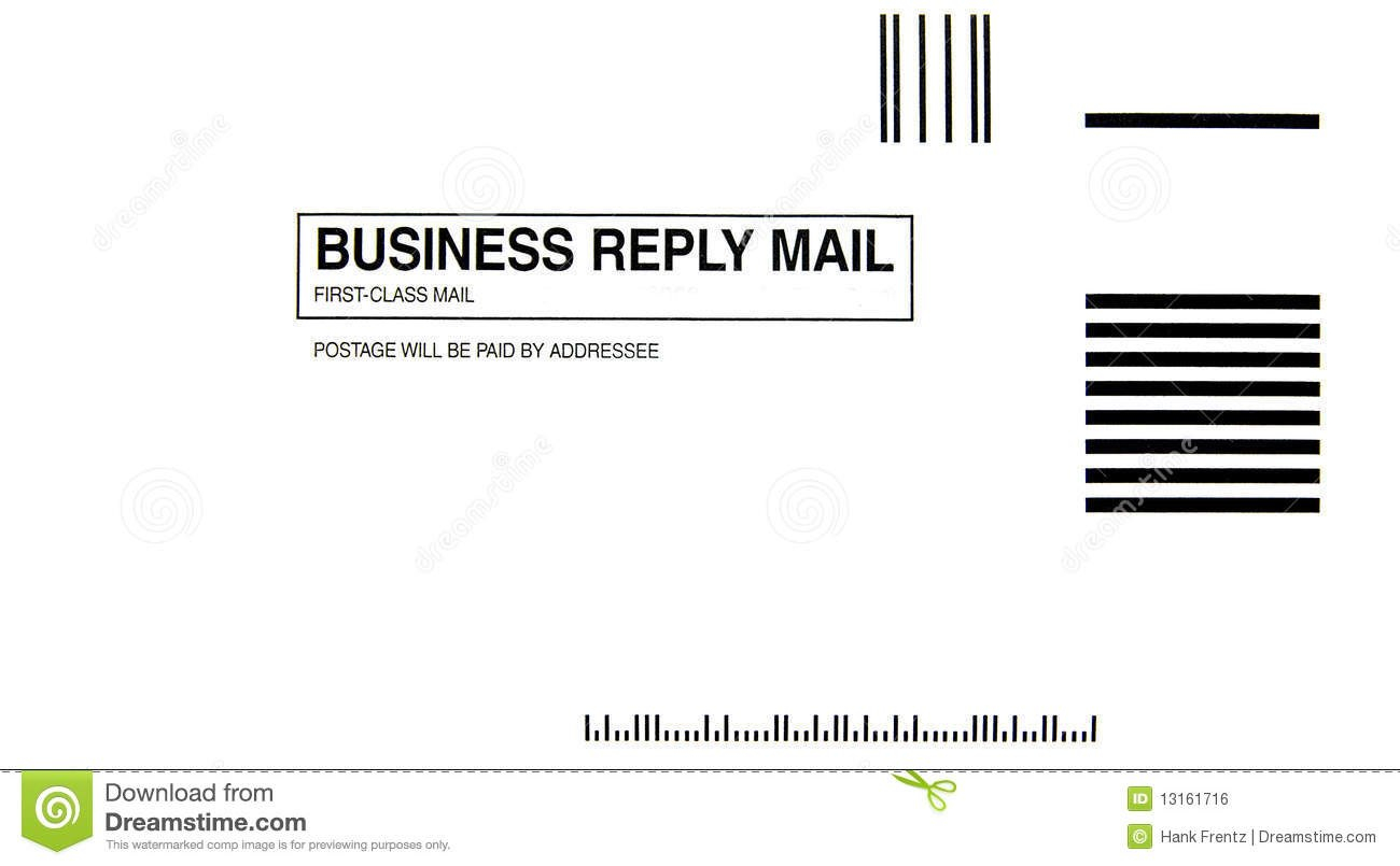 Business Reply Envelope Stock Illustration Illustration Of Isolated For Business Reply Mail Template