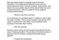 Business Report Examples  Pdf Word  Examples with Simple Business Report Template