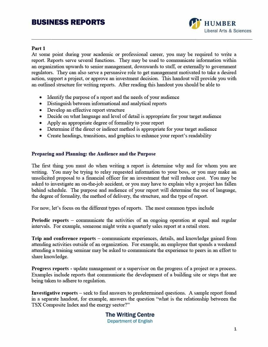 Business Report Templates  Format Examples ᐅ Template Lab With Template On How To Write A Report