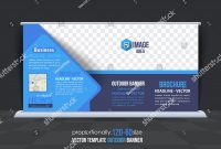 Business Theme Outdoor Banner Design Advertising Stockvektorgrafik in Outdoor Banner Design Templates