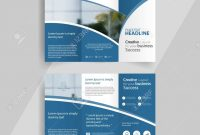 Business Trifold Brochure Layout Design Vector A Brochure in 3 Fold Brochure Template Free