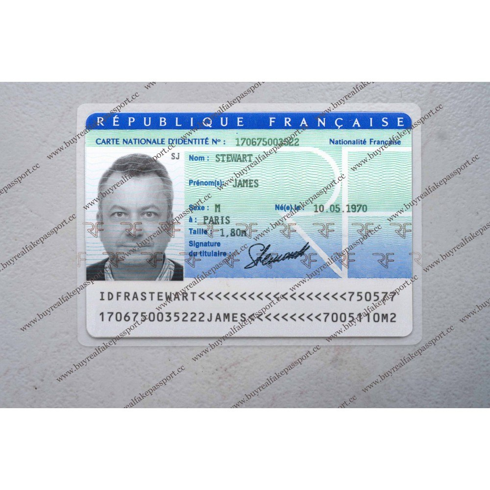 Buy French Original Id Card Online Fake National Id Card Of France Within French Id Card Template