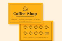 Cafe Loyalty Card  Business Cards  Loyalty Card Design Loyalty pertaining to Loyalty Card Design Template