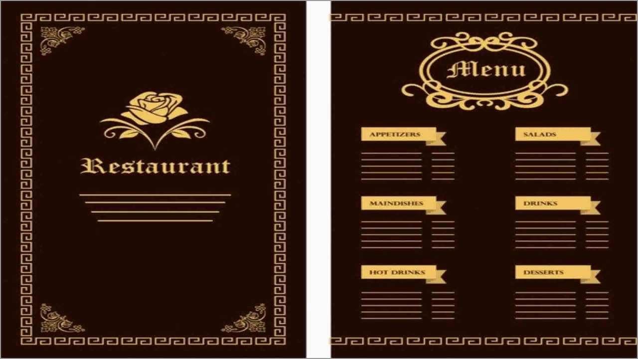 Cafe Menu Design Template Free Download Lovely  Menu Design With Sample Menu Design Templates