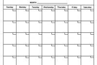 Calendar Template To Print Calendar Month Printable Inside Calendar intended for Month At A Glance Blank Calendar Template