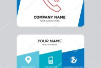 Call Business Card Design Template — Stock Vector © Provectorstock with regard to Template For Calling Card