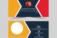 Calling Card Template For Business Man With Geometric Design Royalty inside Template For Calling Card